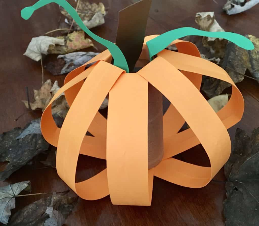 FALL Pumpkin Using a Paper Towel Roll or Toilet Paper Roll ...