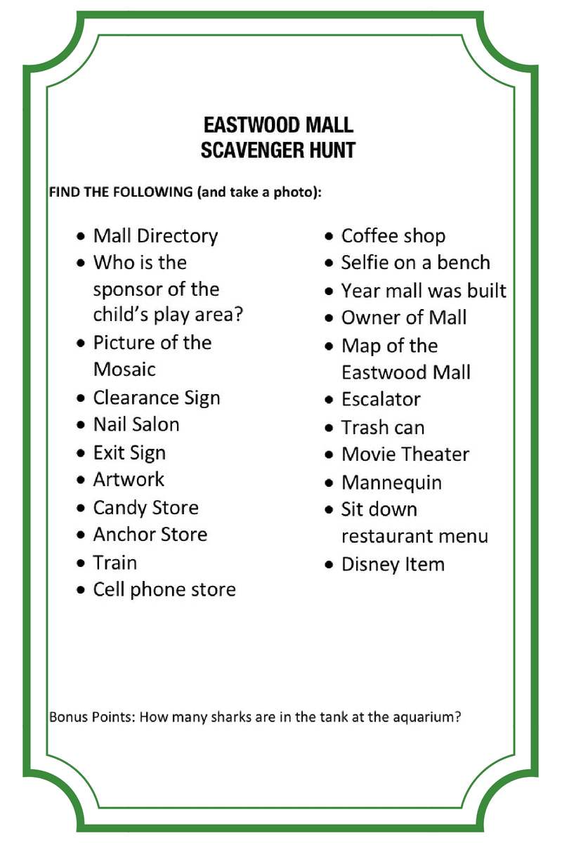 Lunch And Learn At The Mall Mall Scavenger Hunt History And More