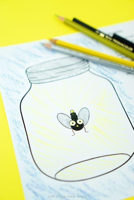 Lightning Bug Science Project and art activity