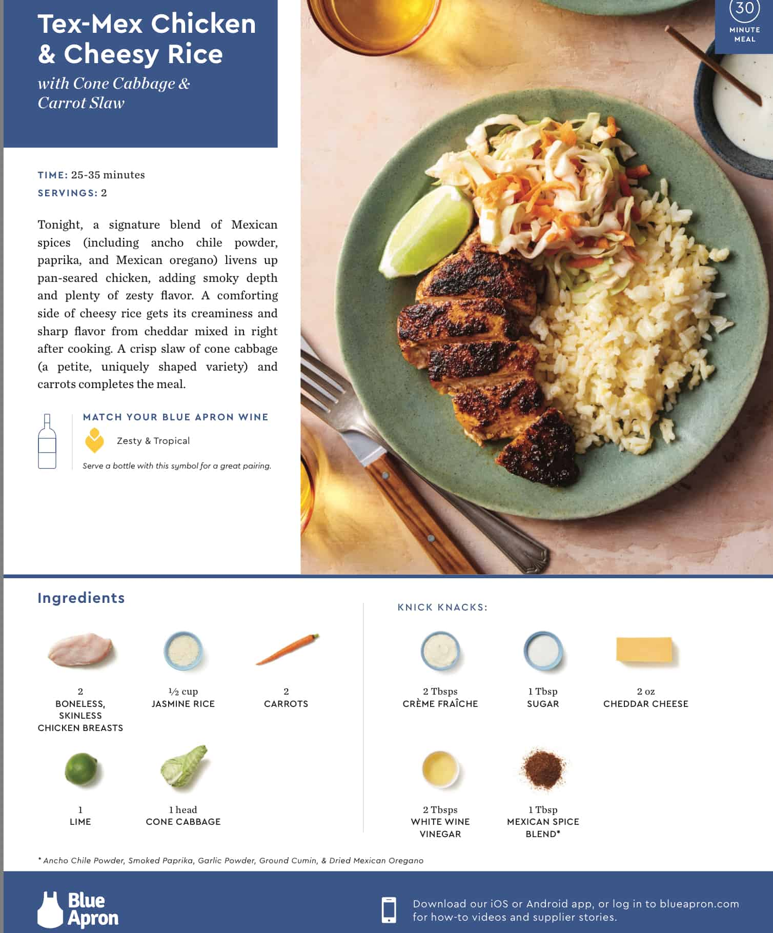 Meal delivery service review blue apron the good the bad and the front of recipe card blue apron forumfinder Image collections