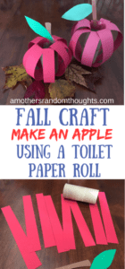 FALL APPLE CRAFT USING A TOILET PAPER ROLL
