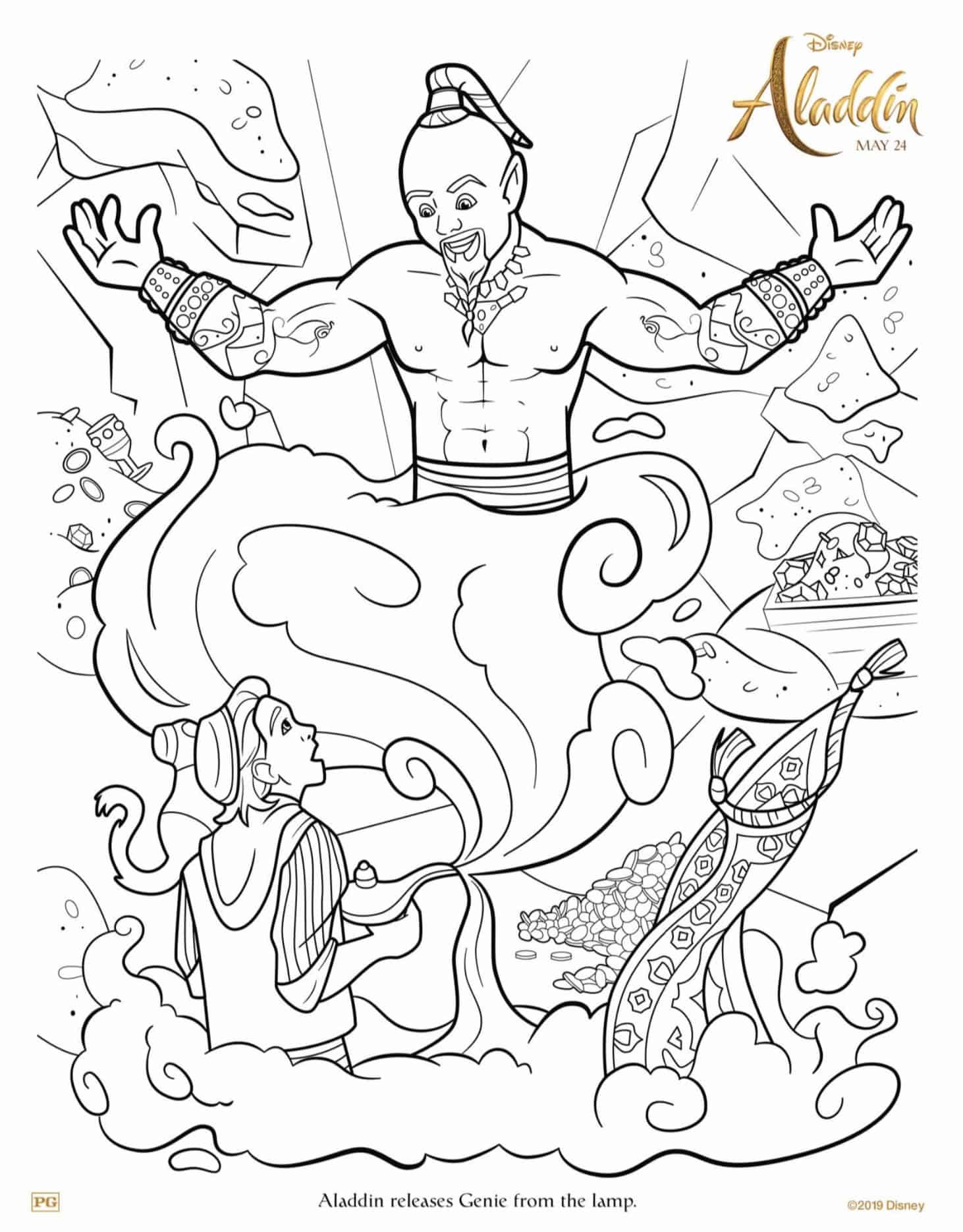 Disney\'s Aladdin Live-Action Movie Activity and Coloring Sheets - A ...